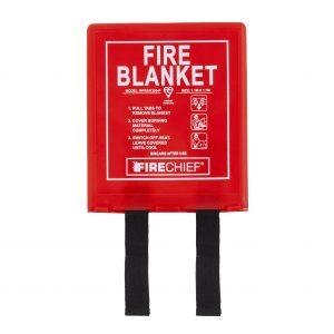 Red Soft Case Firechief Svb1//K100-P Fire Blanket 1.1 M x 1.1 M